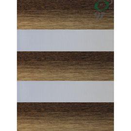 پرده زبرا طرح چوب دو رنگ 0107-5016