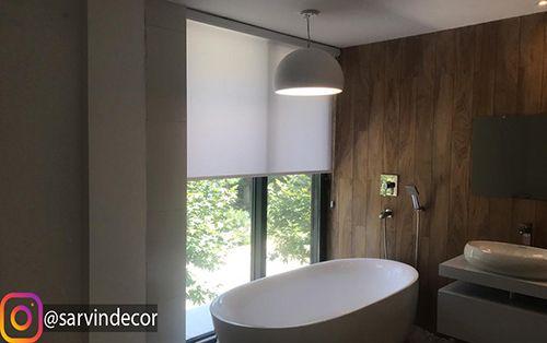 شید رول ساده قابل شستشو حتی مناسب برای حمام