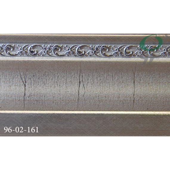 قرنیز پی وی سی طرح گل نقره ای 161-02-96