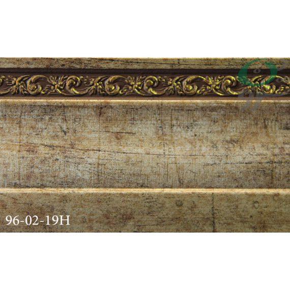 قرنیز پی وی سی طرح گل طلایی 19-02-96