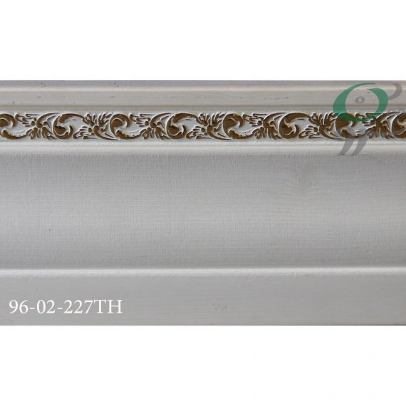 قرنیز پی وی سی طرح گل سفید 161-02-96