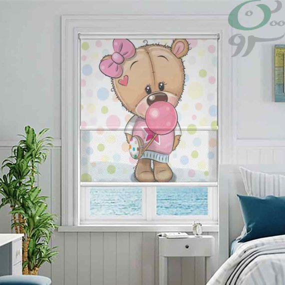 دبل شید تصویری طرح خرس دختر و آدامس بادکنکی DO-A1014