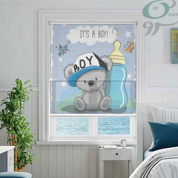 پرده شید رول کودک طرح بچه خرس DO-A925