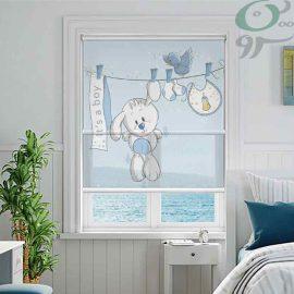 دبل شید تصویری طرح خرگوش پسرونه آبی DO-A973