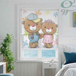 دبل شید تصویری طرح دو خرس دختر و پسر DO-A988