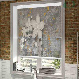 دبل شید تصویری طرح گل درشت سه بعدی DO-PO138