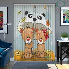 پرده لوردراپه چاپی طرح خرس دختر و پسر LO-A1005