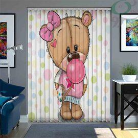 پرده لوردراپه چاپی طرح خرس دختر LO-A1014