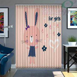 پرده لوردراپه چاپی طرح خرگوش دختر LO-A1155