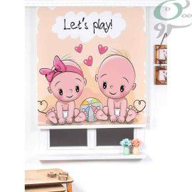 شید رول تصویری طرح نوزاد دختر و پسر کد 934