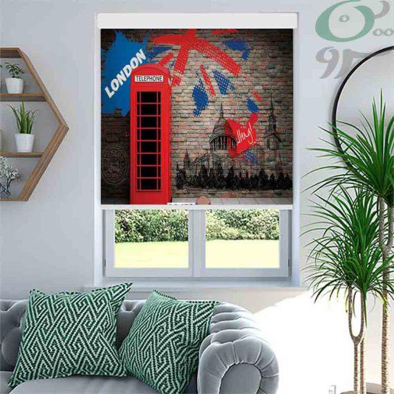 شید تصویری طرح کیوسک تلفن لندن کد M458