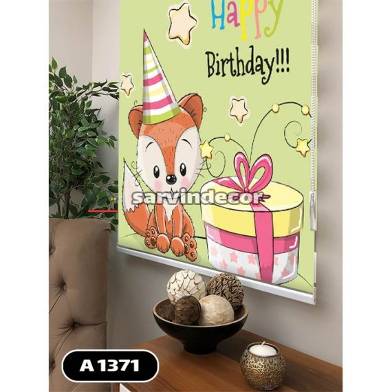 پرده شید مدل روباه تولد مبارک