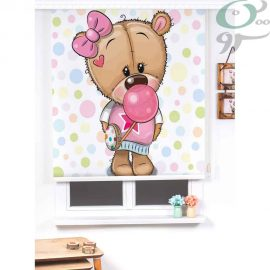 پرده شید رول کودک طرح خرس دختر SH-A1014