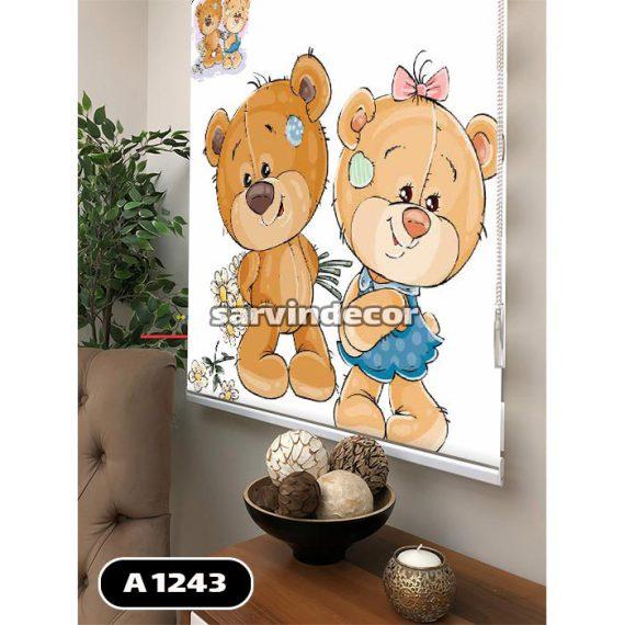 شید کودک طرح خرس دختر و پسر کنار هم