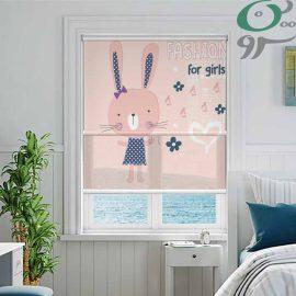 دبل شید تصویری کودک مدل خرگوش صورتی DO-A1155