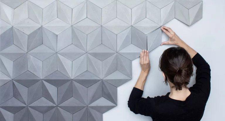 کاغذ دیواری هندسی