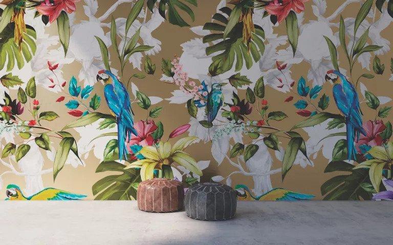 کاغذ دیواری با طرح گیاه