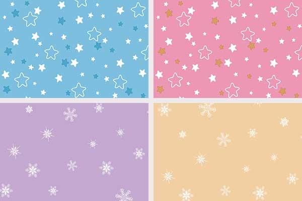 کاغذ دیواری کودک طرح ستاره و برف