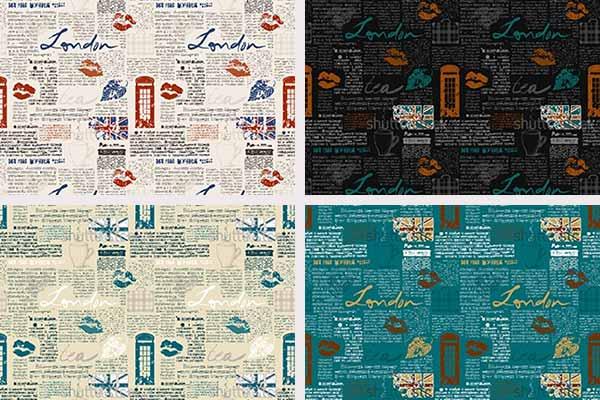 کاغذ دیواری اسپرت مدل نوشته های انگلیسی ریز آلبوم Z66