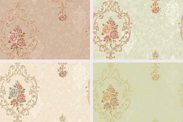 کاغذ دیواری داماسک گل شاد
