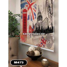 پرده شید تصویری طرح لندن